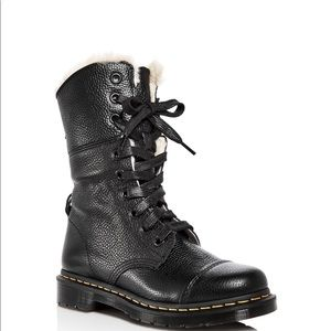 """*New in Box* Dr. Martens fur lined """"Aimlita"""" Boots"""